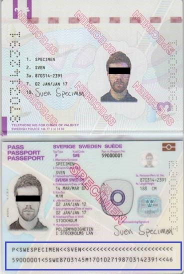 Example image of a passport